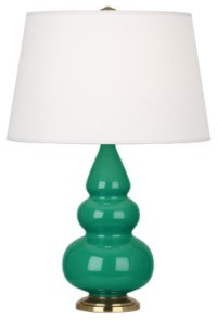 Robert Abbey Small Triple Gourd Accent Table Lamp with