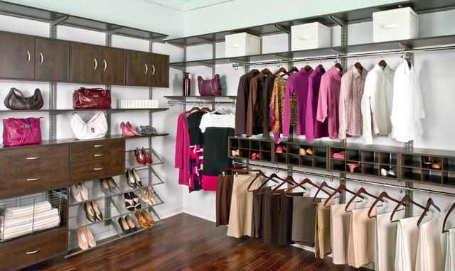 Organized Living freedomRail Womans WalkIn Closet  Contemporary  Bedroom  Cincinnati  by
