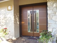 European double front door