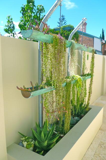 contemporary garden and vertical