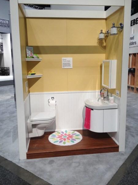 child friendly bathroom Kid-Friendly Geberit KBIS Booth - Contemporary - Bathroom