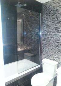 Custom shower panel in chrome channel