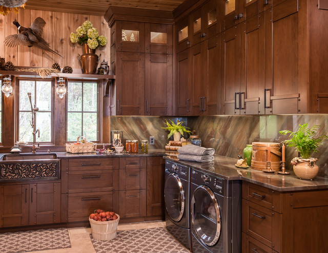 Refined Rustic  Traditional  Laundry Room  other metro