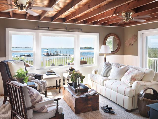 Coastal Cottage  Beach Style  Living Room  Providence