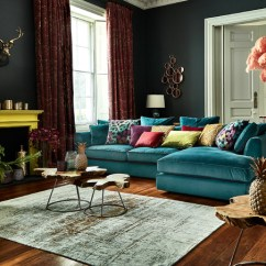 Teal Blue Living Room Curtains Interior Design Ideas In India Eclectibles - Eclectic Cork By Caseys ...