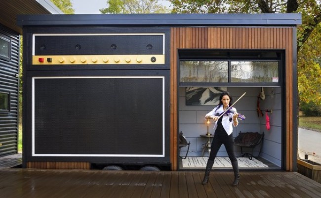 Amplified Tiny House Music Studio Exterior Garage Other