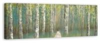 """Birch Tree Grove"" Canvas Wall Art, 60""x20"" - Transitional ..."