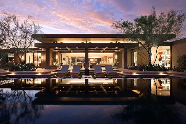 Modern Desert Home Contemporary Pool Orange County By