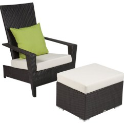 All Weather Garden Chair Toddler Recliner With Cup Holder Martano Modern Outdoor Wicker 2 Piece Stackable Ottoman Tropical Lounge Chairs By Babmar Furniture