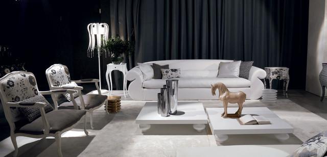 Luxury Oversized White Sofa