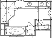 Master Bathroom layout dilema
