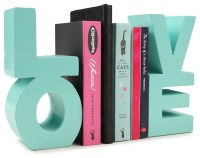 set 2 love bookends - Contemporary - Bookends - by COTTON ON