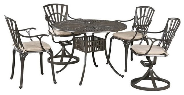 Hawthorne Collections 5 Piece Patio Dining Set With