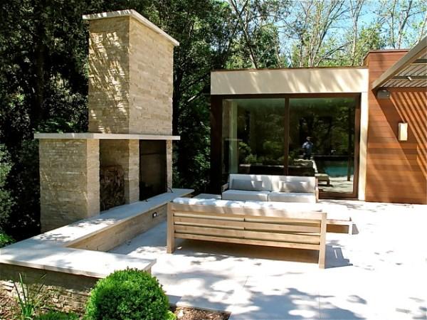 contemporary residential garden