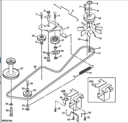 John Deere LT155 transmission