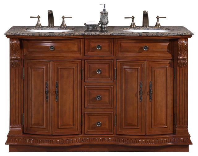 55 inch small double sink bathroom vanity granite top traditional
