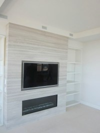 Recessed TV above Fireplace - Modern - Living Room ...