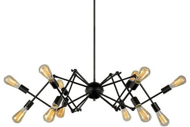 Black Spider Chandelier Pendant Lamp Light Lighting