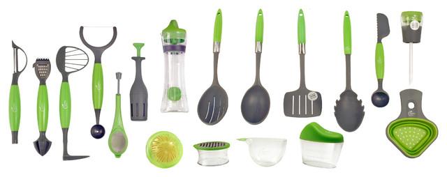 kitchen utensil sets remodeling your healthy steps 18 piece portion control set modern