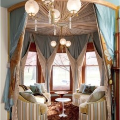 12 Foot Sofa How To Make A Bed Comfortable Circus Tent Inspired Turret - Victorian Living Room ...