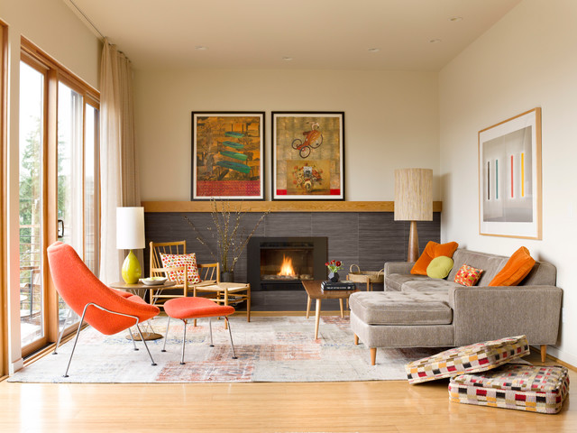Living Room  Anni 50  Soggiorno  Seattle  di Deering