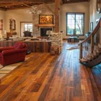 Reclaimed Barn Wood Floors - Rustic - Living Room - Los ...