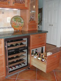 Wine And Alcohol Cabinet | Kitchen Design Ideas
