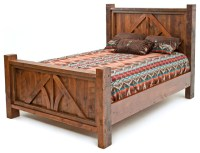Post and Beam Barnwood Bed - Rustic - Panel Beds - by ...