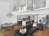Living Room, Dining and Kitchen - Modern - Living Room ...