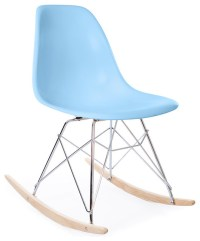 Molded Plastic RSR Eiffel Rocking Side Chair - Midcentury ...