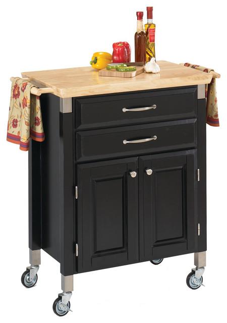 Dolly Madison Kitchen Cart Black Transitional Kitchen Islands