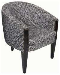 Black and White Tub Chair - Armchairs and Accent Chairs ...