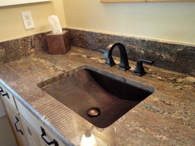 copper sink installations - traditional - bathroom - los angeles
