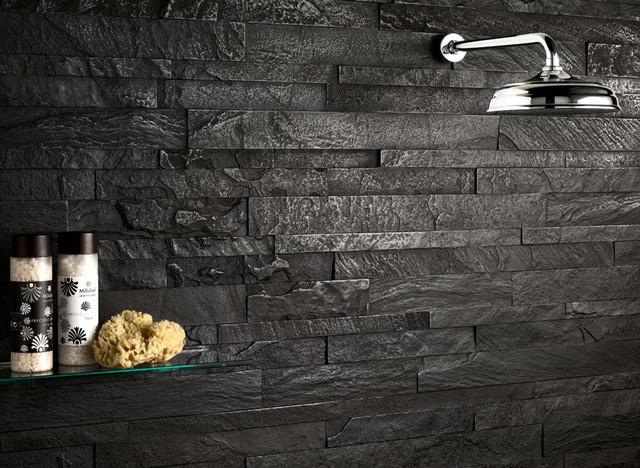 Modern Black textured shower  Modern  Bathroom  Miami  by Simple Steps