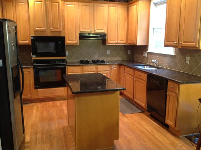 Tan Brown countertops  Traditional  Kitchen  atlanta  by E  D Granite City