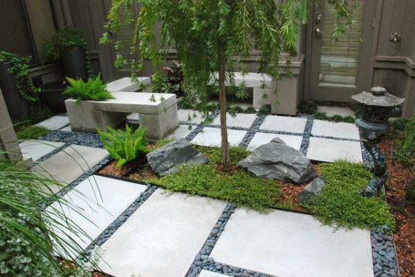 zen garden in 225 sq ft - asian