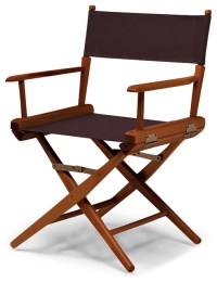 Walnut World Famous Director Chair- Dining Height, Brown ...