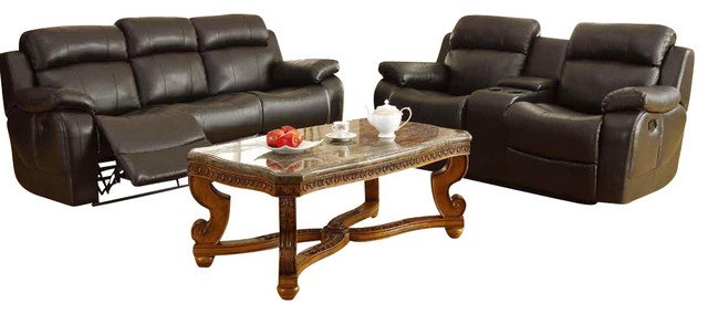 3 piece black leather living room set indian traditional interior design homelegance marille reclining in