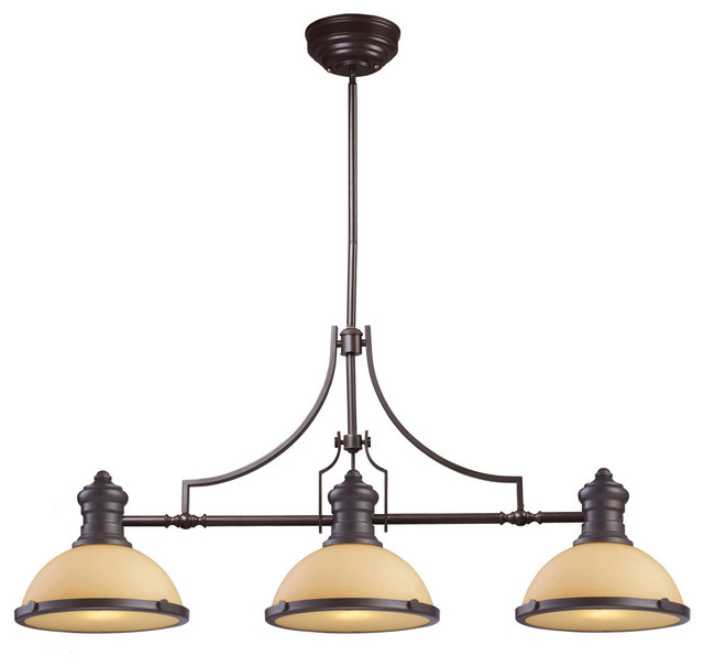 oil rubbed bronze kitchen island lighting sets for little girls chadwick 3 light with cappa shell traditional oiled and amber