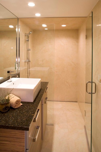 Space Saving Curbless Shower Entry Modern Other Metro