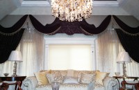Custom Cornice with Sheer Curtains - Traditional - Living ...