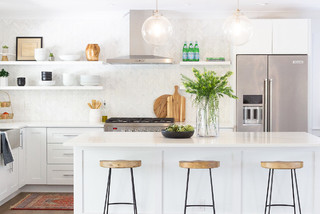 Kitchen Of The Week: Curated, Light And Bright In 130 Square Feet (9 Photos)