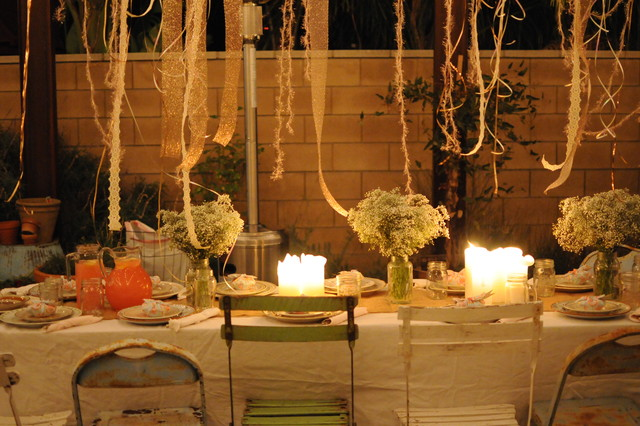 HOUZZ Holiday Contest A Pretty Backyard DInner Party Eclectic