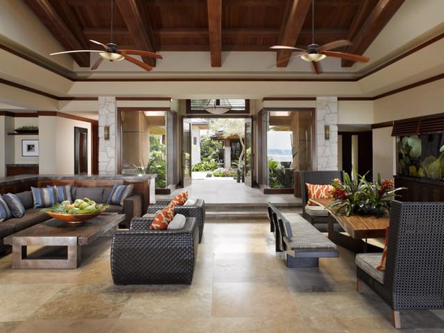 Applegate Tran Interiors  Tropical  Living Room  hawaii
