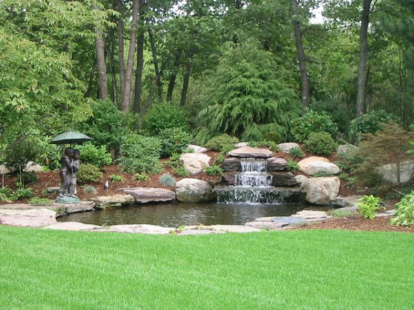 backyard waterfall - traditional