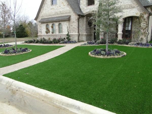 southlake front yard - contemporary