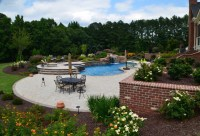 Morrisville/Cary, NC Swimming Pool, waterfall, outdoor ...