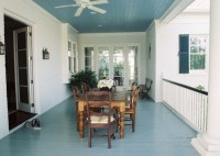 Acadian Home Dining Porch