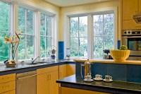 Detail of kitchen toward corner window - Contemporary ...