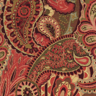 floral print accent chairs patio chair repair kits burgundy, green and red, paisley contemporary upholstery fabric by the yard - ...